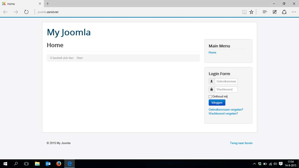 Joomla 3 demo